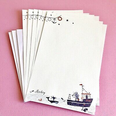 Cute Mickey Mouse Letter Writing Set /Note Paper Scrapbooking/ Journal / Craft