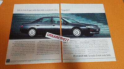 Cutting Clipping Adv Advertising Peugeot 605 Anni 90