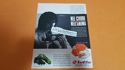Cutting Clipping Adv Advertising Ruud Gullit Lotto Anni 90