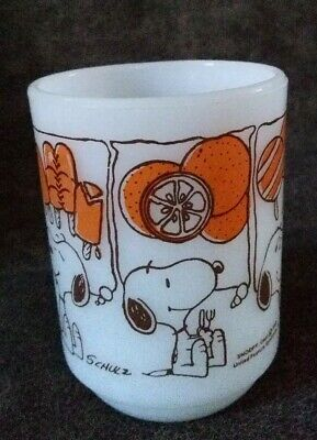 Vintage 1958 Fire King Snoopy Ice Cream Dreams Anchor Hocking Mug