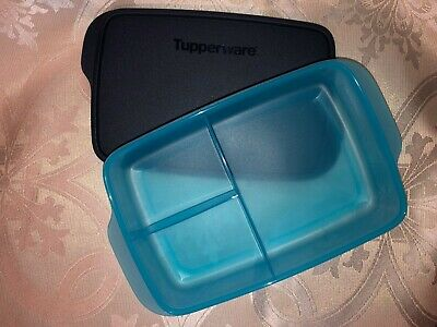 Tupperware Large Lunch-It Divided Dish Lunch Container Sky Blue