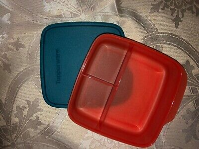 Tupperware Lunch-It Divided Dish Lunch Container Red