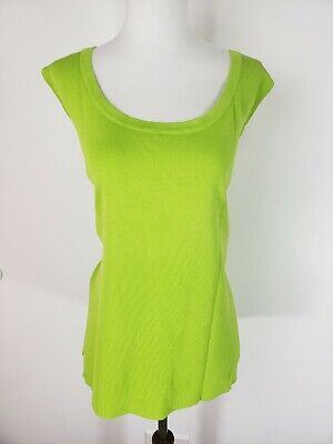Laura Ashley Womens 3X Sleeveless Ribbed Stretchy Blouse Shell Green NEW w/ Tag