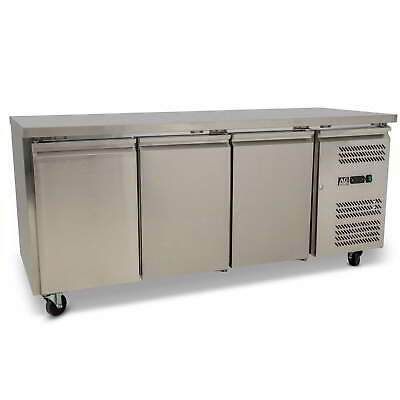 Three Door Commercial Worktop / Underbench Freezer 417L
