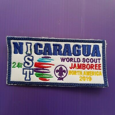 24th World Scout Jamboree 2019 Contingent Official PATCH / NICARAGUA IST badge