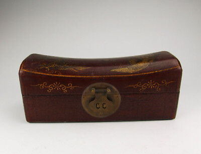 One Wooden Casket Painted with Dragon&Phoenix Pattern