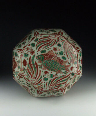 One Nice Chinese Antique Five-colored Porcelain Food Box Fish