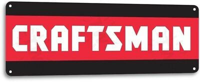 Craftsman Power Tools Mechanic Logo Garage Auto Shop Wall Decor Metal Tin Sign