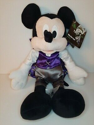 NEW Disney Parks Mickey Mouse Vampire Plush Halloween 2019 TAGS