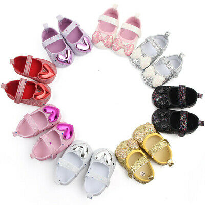 Newborn Infant Girl Indoor Soft-Soled Bow-Knot Princess Shoes Baby Walking Shoes