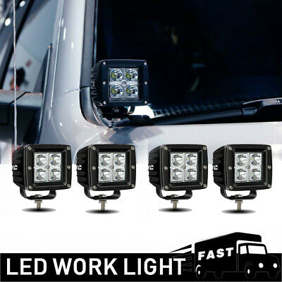 NEW 4PACK 3inch 64W LED Spot Work Lights For Driving Fog SUV Offroad Golf Cart
