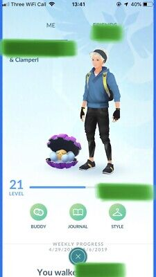 Pokemon Go Trade yourself account Shiny Clamperl, Munchlax, Happiny, 7 Babies