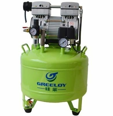 40L 800W Dental Noiseless Quiet Oil Free Oilless Air Compressor Motors 155L/min