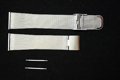 18mm Fits Skagen Stainless Steel Mesh W/2 SPRING BAR FITTING Watch Band Strap