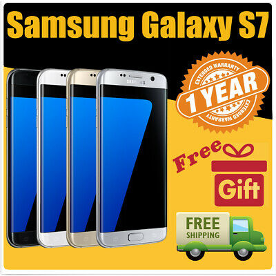 Samsung Galaxy S7 Factory Fully Unlocked 32GB Black Silver Gold Excellent