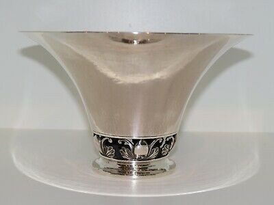 Georg Jensen sterling silver, bowl decorated with Cactus