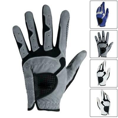 Men All Weather Soft Golf Gloves Leather Palm Patch Durable P8B0