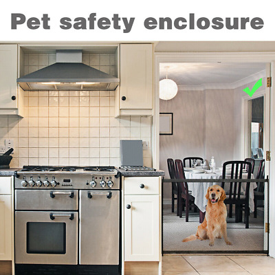 UK Retractable Folding Net Mesh Fence Pet  Dog Safety Gate Baby Stair Enclosure