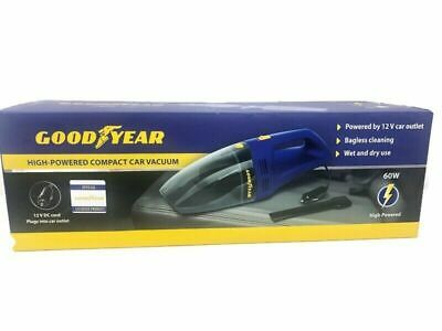 Goodyear 60W High Powered Compact Car Vacuum PLUGS INTO 12V CAR OUTLET PLUG