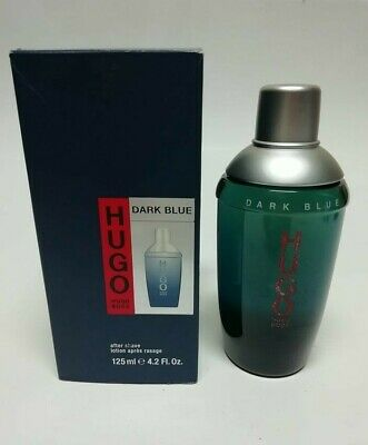 Hugo Boss Dark Blue  After Shave Lotion  Splash ( No Spray )  New & Rare