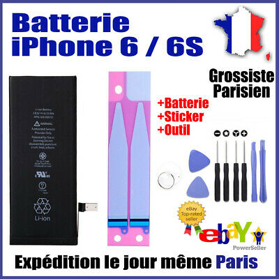 Batterie iPhone 6 / 6S Interne Neuve 0 Cycle Grade AAA+Autocollant Sticker+Outil