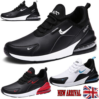 Uk Men Shock Air Absorbing Running Trainers Casual Lace Gym Walking Sports Shoes