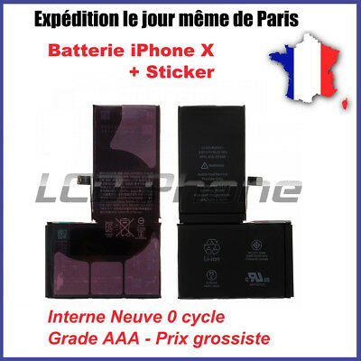 Batterie iPhone X Interne Neuve 0 Cycle + Sticker - Grade AAA - Prix grossiste