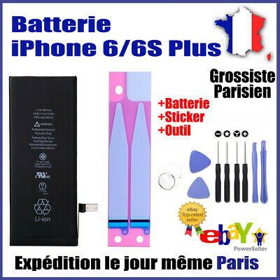 Batterie iPhone 6/6S Plus Interne Neuve 0 Cycle + Autocollant Sticker + Outil