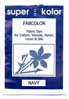Navy Fabric Dye for Clothes Cotton Linen+ Domestic hand dye