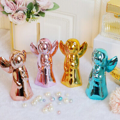 Creative Decorations Ceramic Plating Golden Angel Figurines Home Decor Gifts