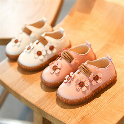 Kids Girls Baby Non-Slip Flower Princess Shoes Child Toddler Comfy Party Flats