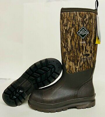 Muck CHH-MOB CHORE CLASSIC TALL Brown/Camo Work Mud Slush Farm Boots Hunt Mossy