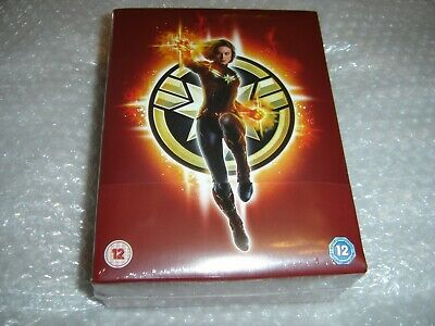 Captain Marvel Collector's Edition 3D Blu-ray Bluray Steelbook New Sealed UK