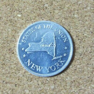 NEW YORK STATES OF THE UNION Albany Capital Shell Coin Token Game 1968 (PG1649)