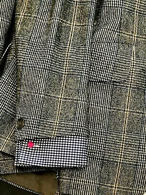 VINTAGE AUSTIN REED Mens Suit MADE IN ENGLAND 38R 2 Button GRAY BROWN CHECK