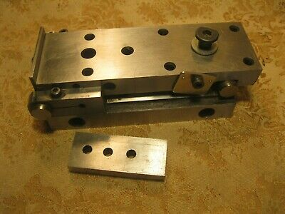 Vintage Machinist Tools Lathe Mill Adjustable Plate Block with second plate