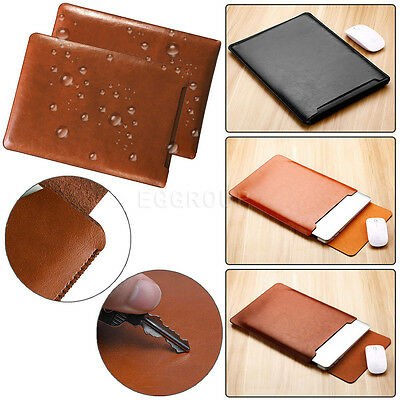 Luxury Leather Laptop Sleeve Pouch Bag Case Fr MacBook Air Pro 11 13 15 Notebook