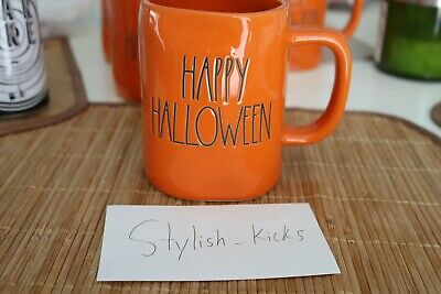 New Rae Dunn 'Happy Halloween' Mug Halloween Orange W/ Black Letters