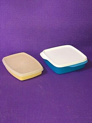 2 Tupperware 7503B + 813 lunchit divided storage containers with lid