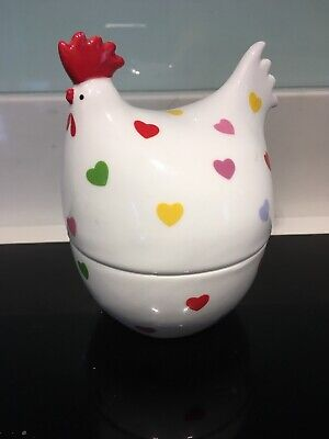 Martin Gulliver Hen Egg Cup - Rainbow hearts polka dot - unused