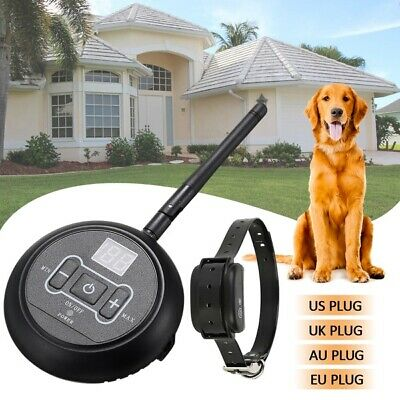 Wireless Electric Dog Collar System Transmitter Fence Containment Waterproof