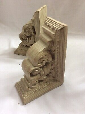 Bookends Shabby Chic French Style Cream Resin