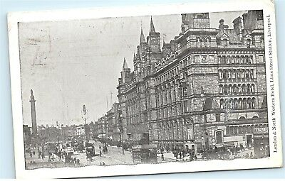 *London North Western Hotel Lime Street Station Liverpool Vintage Postcard C71