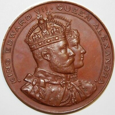 1907-King Edward Vii & Queen Alexandra Visit To Cardiff-Bronze Medal