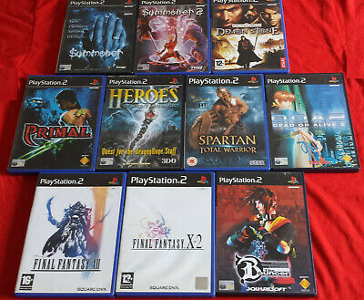 PS2 Bundle - Summoner, Final Fantasy, Heroes of Might & Magic + More Untested