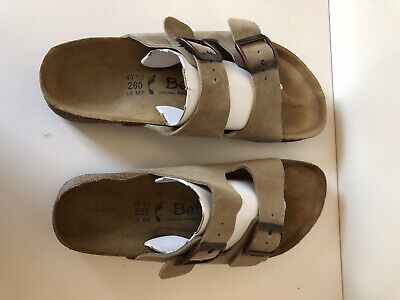 Betula by Birkenstock Arizona Mis-Matched 8 39  Right 9 40 Left Suede Sandals