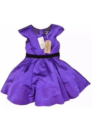Ralph Lauren Girls Christmas Dress Purple Duchess Satin Size 4 , T4 See Details