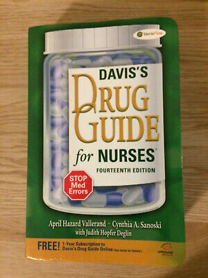 SEND OFFERS Davis's Drug Guide for Nurses 14th Fourteenth Edition Like New