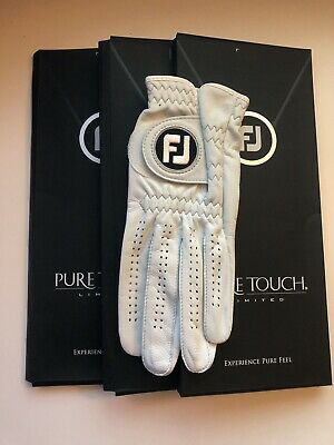 FootJoy Pure Touch Golf Glove (3pk) - PICK SIZE Brand New