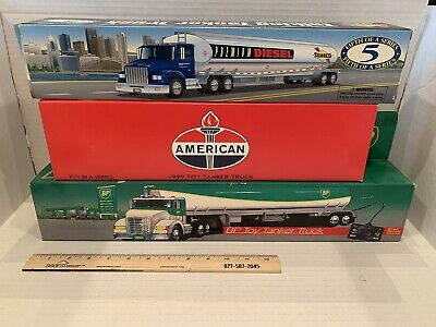 BP Wired Remote Control, American, Sunoco Talking Toy Tanker Truck, Lot Of 3 Dv